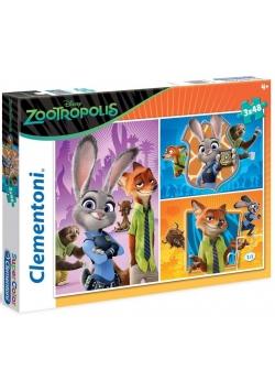 Puzzle 3x48 Zootropolis