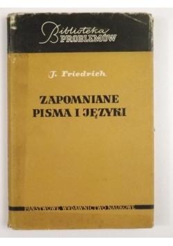 Zapomniane pisma i języki