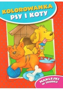 Kolorowanka. Psy i koty