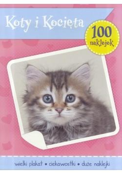 100 naklejek. Koty i Kocięta