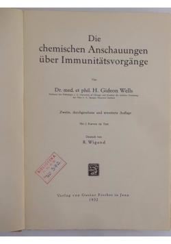 Die chemischen Anschauungen uber Immunitatsvorgange, 1932 r.