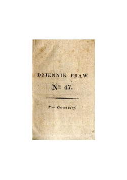 Dziennik praw, Tom dwunasty, 1817r.