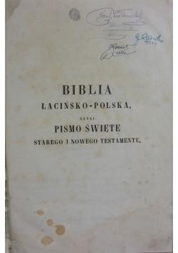 Biblia łacińsko-polska czyli Pismo Święte Starego i Nowego Testamentu,  1864r.