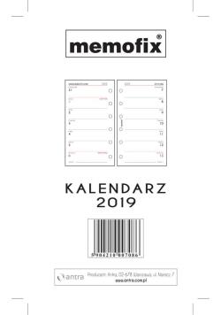 Wkład kalendarzowy Memofix mały ANTRA