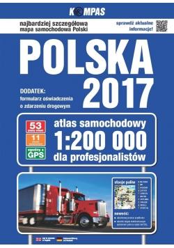 Atlas samochodowy Polski 1:200 000 w.2017