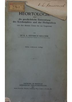Heortologie,1911r.