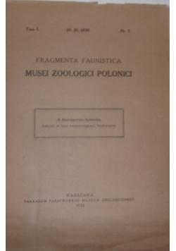 Fragmenta Faunistica. Musei Zoologici Polonici, 1930 r.