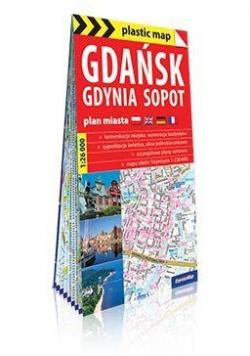Gdańsk Gdynia Sopot 1:26 000 plan miasta foliowany