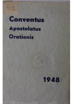 Conventus apostolatus orationis quem secretarii nationales et directores nuntiorum a die 20. ad 26. septembris 1948 Romae celebrarunt., 1948r.
