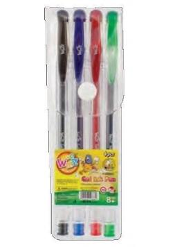 Długopisy żelowe 4 kolory LAMBO