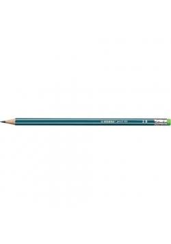 Ołówek 160 z gumką 2B petrol (12szt) STABILO