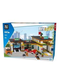 Klocki Blocki MyCity Stacja Obsługi 686 elementów