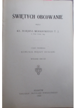 Świętych obcowanie, 1923 r.
