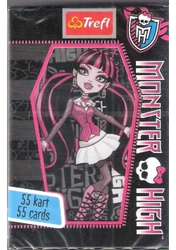Karty - 55 listków Monster High TREFL
