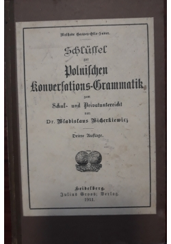 Polnilchen konverlations grammatik, 1911 r.