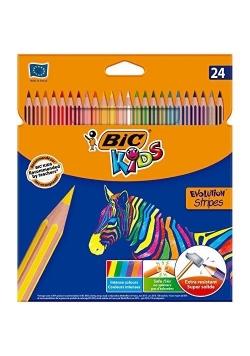 Kredki Eco Evolution Stripes 18+6 kolorów BIC
