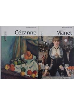 Rzeczpospolita, Klasycy sztuki  - Manet / Cezanne - zestaw 2 książki