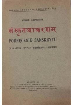 Podręcznik sanskrytu, 1932 r.