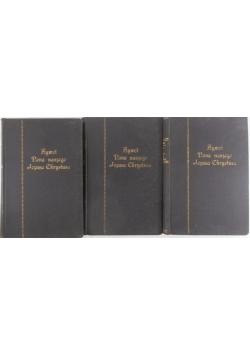Żywot Pana Naszego Jezusa Chrystusa Tom I,II,III, 1932 r.