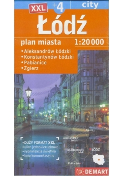 Plan miasta - Łódź XXL 1:20 000 DEMART