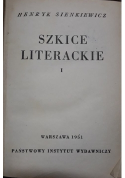 Szkice literackie