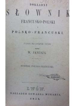 Dokładny słownik francusko-polski, 1854 r.