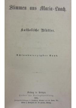 Stimmen aus Maria-Laach 48 band, 1895r.