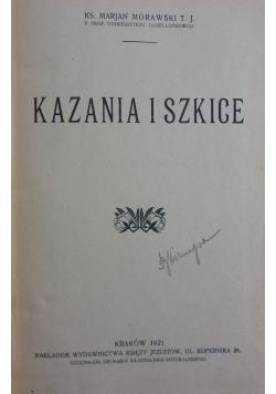 Kazania i szkice, 1921r..