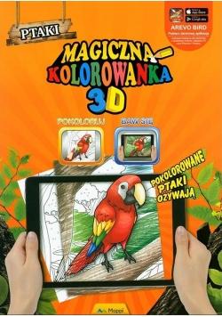 Magiczna kolorowanka 3D - Ptaki