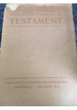 Testament, 1922 r.