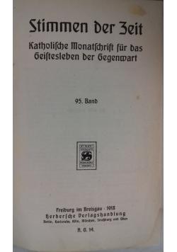 Stimmen der Zeit. Katholische Monatsschrift für das geistesleben der Gegenwart, 1918