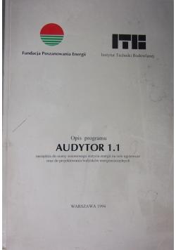 Opis programu Audytor 1.1