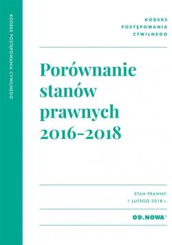 Porównanie stanów prawnych KPC 2016-2018