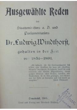 Ausgewahlte Reden, 1901 r.