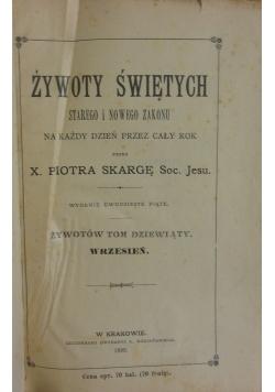 Żywoty świętych, 1899 r.