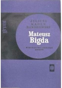 Mateusz Bigda. Grunt