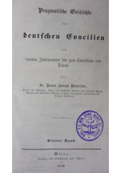Deutschen Concilien, 1852r.