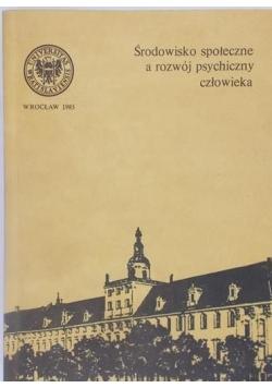 Środowisko społeczne a rozwój psychiczny człowieka