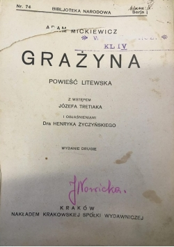 Grażyna, 1925 r.