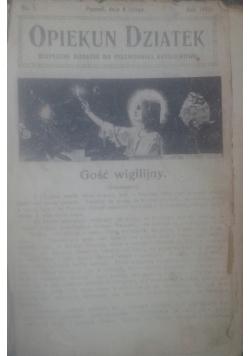 Opiekun dziatek, 1921 r.
