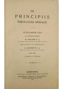 De Principiis theologiae moralis, 1931 r.