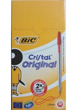 Długopis Cristal Original czerwony (50szt) BIC