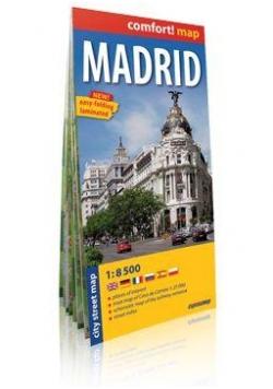 Comfort!map Madryt 1:8 500 laminat plan miasta