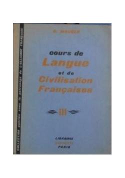 Cours de Langue et de Civilisation Francaises, Tom III