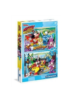Puzzle Myszka Mickey Raźni rajdowcy 2x20