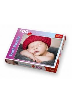 Puzzle 500 Mały śpioszek w czerwonej czapce TREFL
