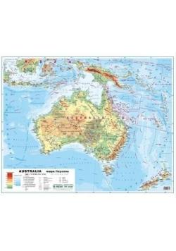 Australia 1:12 100 000 mapa pol. i fiz. ścienna