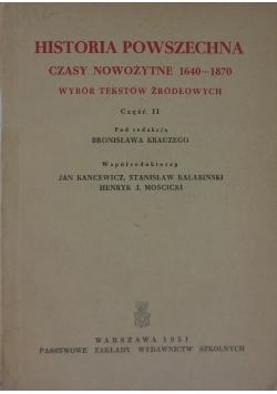 Historia powszechna czasy nowożytne 1640-1870, część II