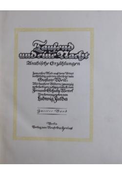 Taufend und pine Narht, 1914r.