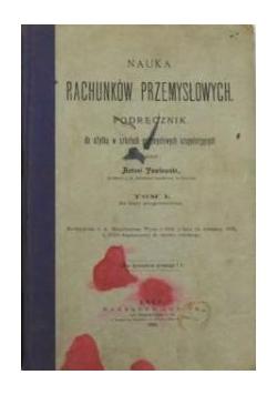 Nauka rachunków przemysłowych,  1905 r.